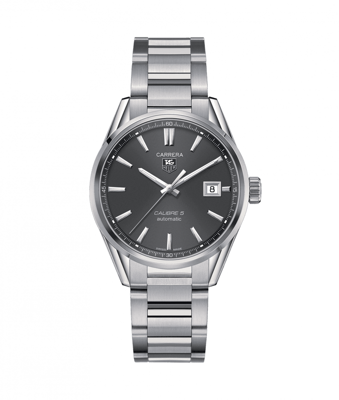 TAG Heuer Carrera Quartz 39mm Watch with Grey Dial