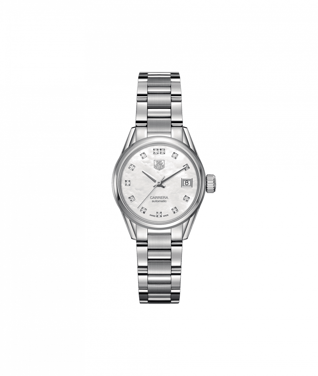 TAG Heuer Carrera 28mm Ladies Watch with Diamond and Mother of Pearl Dial