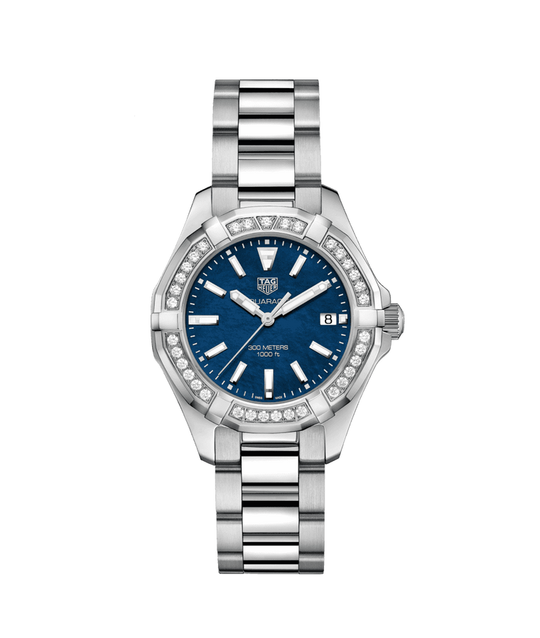 TAG Heuer Aquaracer 35mm Ladies Watch with Blue Mother of Pearl Dial