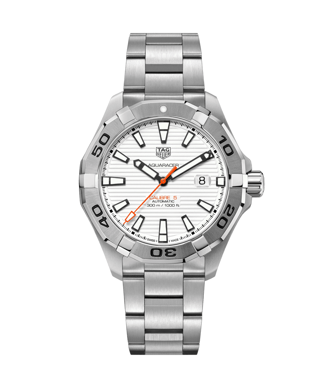 TAG Heuer 'Aquaracer' 43mm Watch with White Dial