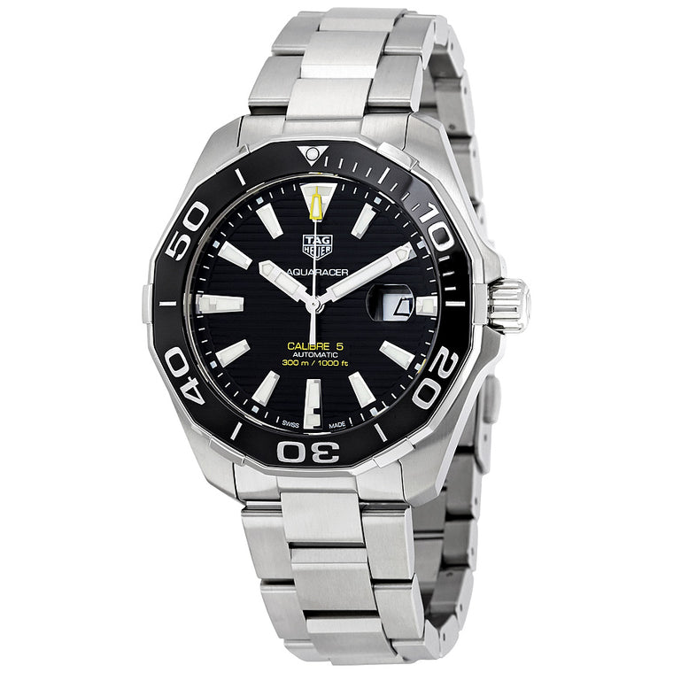TAG Heuer 'Aquaracer' 43mm Watch with Black Dial