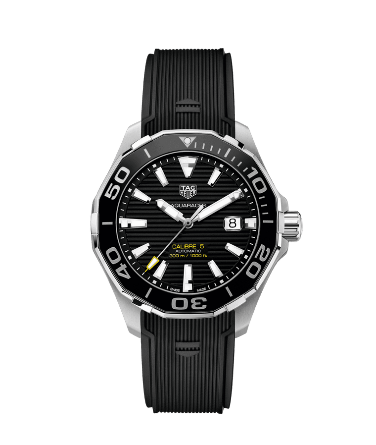 TAG Heuer Aquaracer 43mm Watch with Black Dial