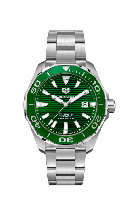 TAG Heuer 'Aquaracer' 43mm Watch with Green Dial