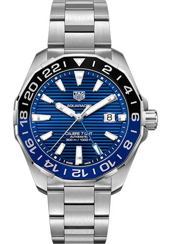 TAG Heuer 'Aquaracer' 43mm GMT Watch with Blue Dial