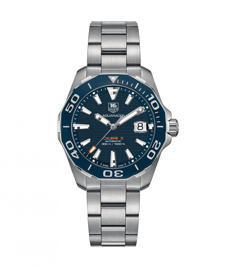 TAG Heuer Aquaracer 41mm Watch with Blue Dial
