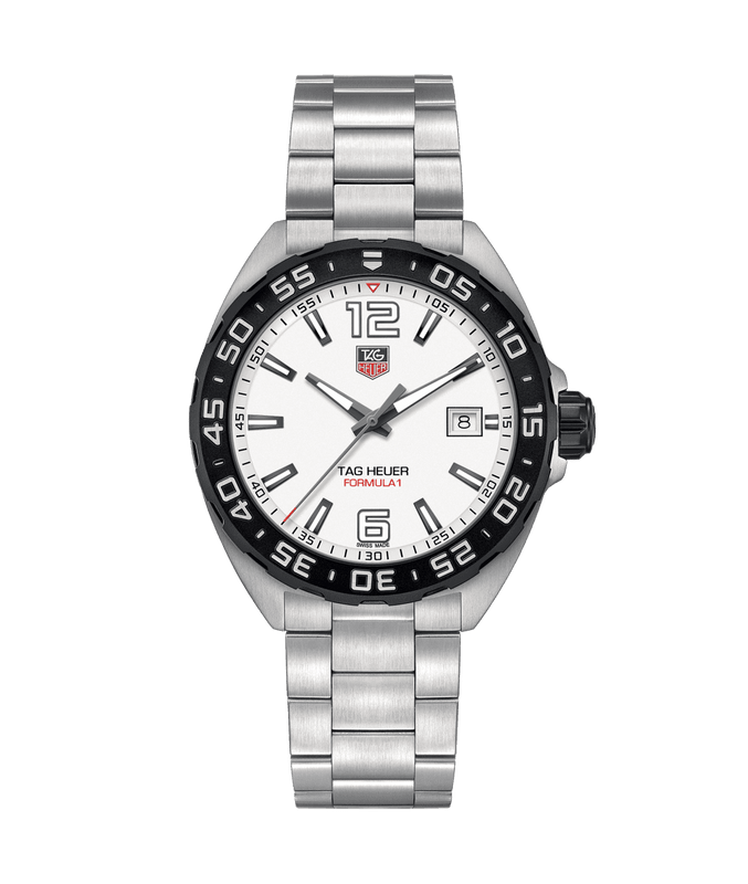 TAG Heuer 'Formula 1' 41mm Watch with White Dial