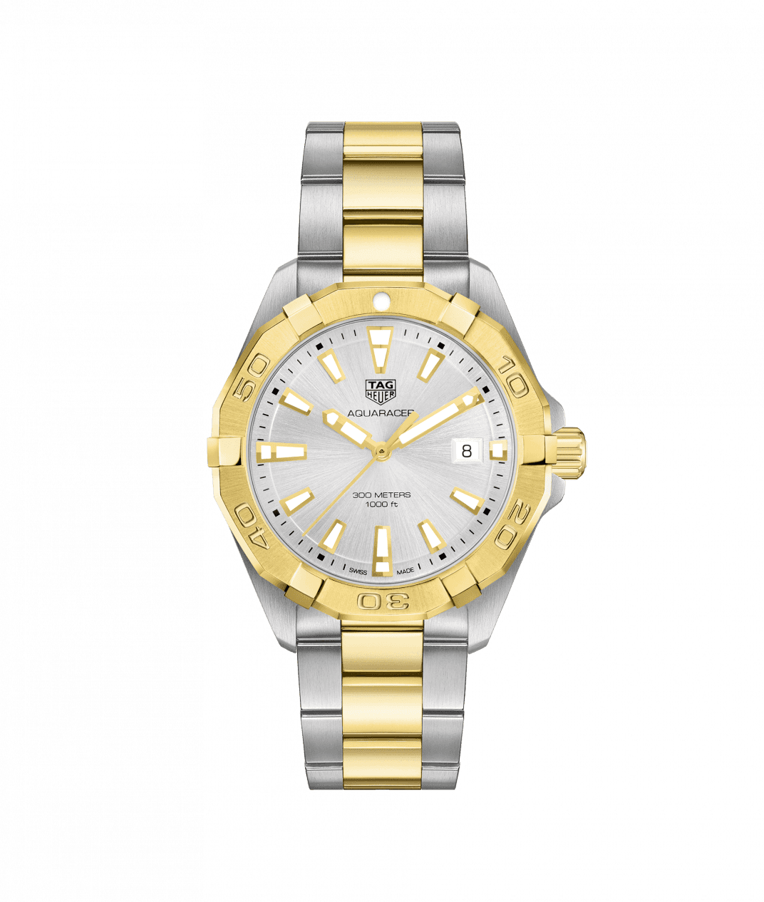 TAG Heuer Aquaracer 41mm Watch with White Dial