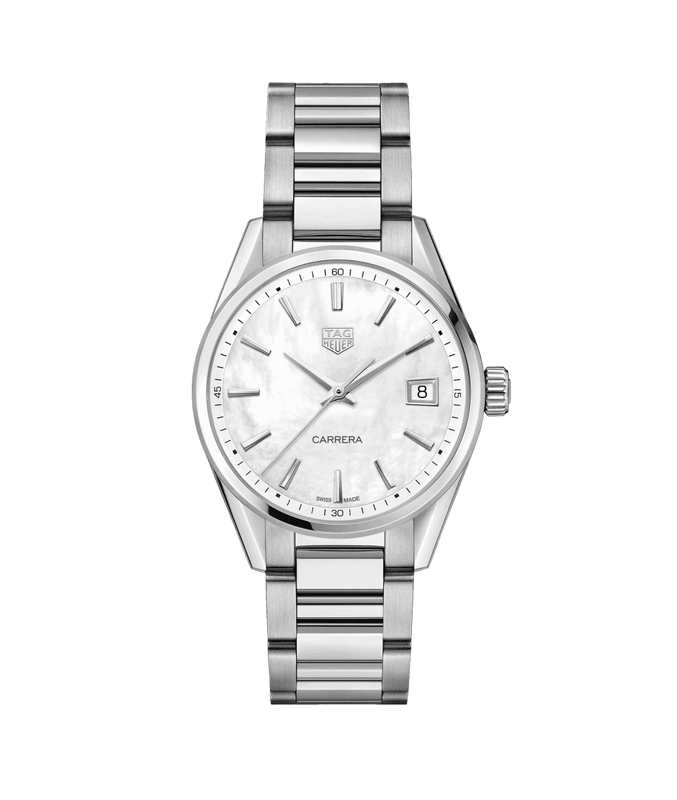 TAG Heuer 'Carrera' 36mm Watch with Mother of Pearl Dial