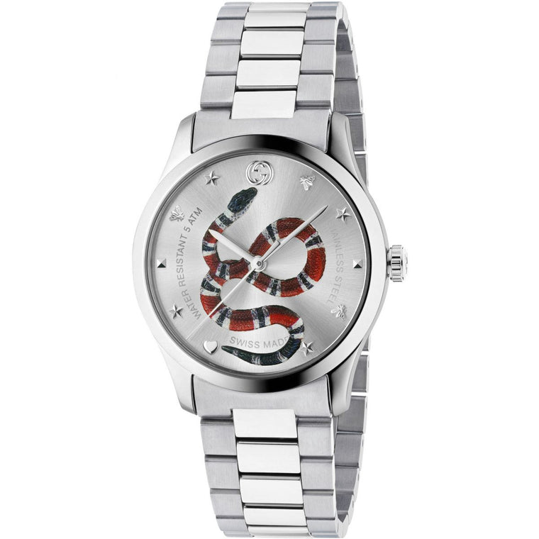 Gucci G-Timeless 38mm Watch with Silver Dial