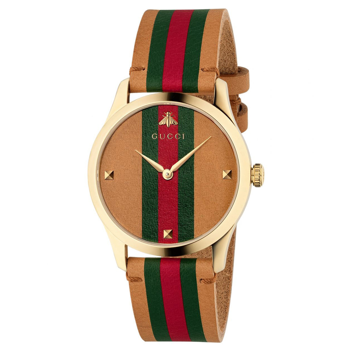 Gucci G-Timeless 38mm Watch with Tri-color Dial