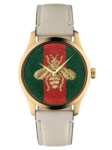 Gucci G-Timeless 38mm Bumblebee Motif Watch