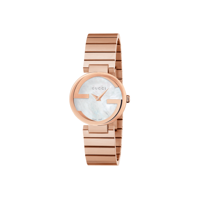 Gucci Interlocking G Rose Gold Watch