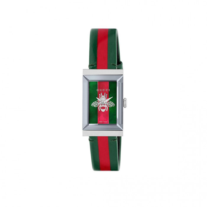Gucci G-Frame 34mm Watch with Red and Green Dial