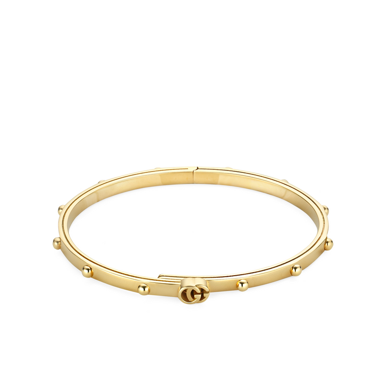 Gucci 18k Yellow Gold Running G Bangle Bracelet