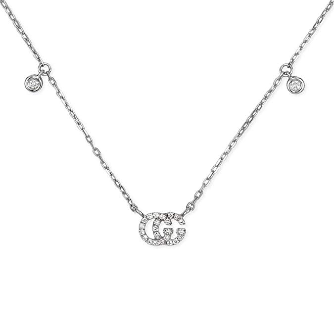 Gucci Running G Diamond Necklace