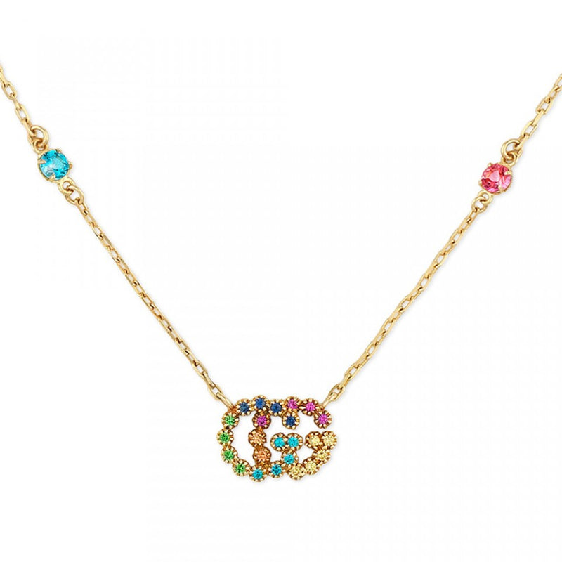 Gucci Rainbow Running G Necklace