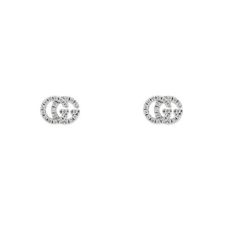 Gucci Running G Diamond Stud Earrings
