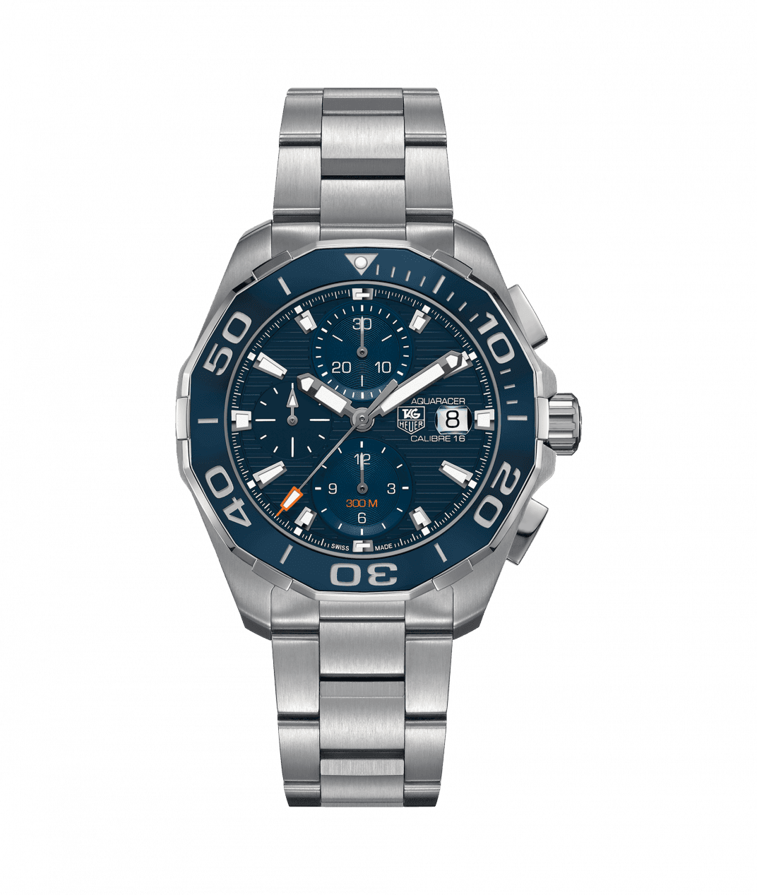TAG Heuer Aquaracer 43mm Calibre 16 Watch with Blue Dial