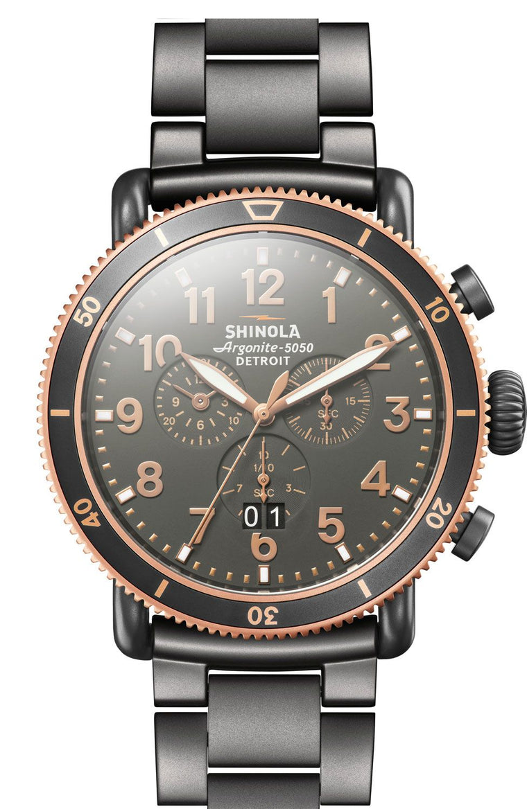 Shinola Runwell Sport Chronograph 48mm Watch with Grey Dial
