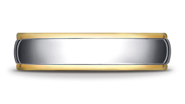 Benchmark 6mm TwoTone 14K Gold Wedding Band