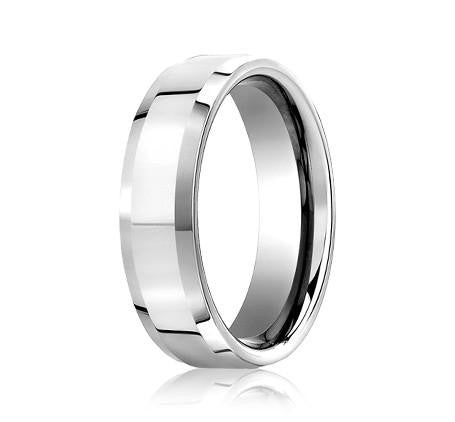Benchmark 6mm High Polish Beveled Edge Wedding Band