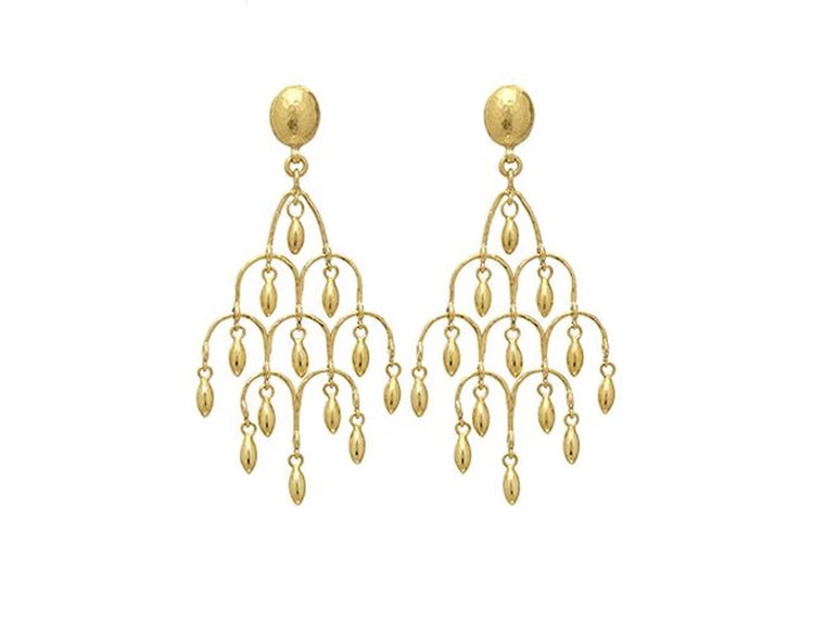 Gurhan Yellow Gold Olive Chandelier Earrings