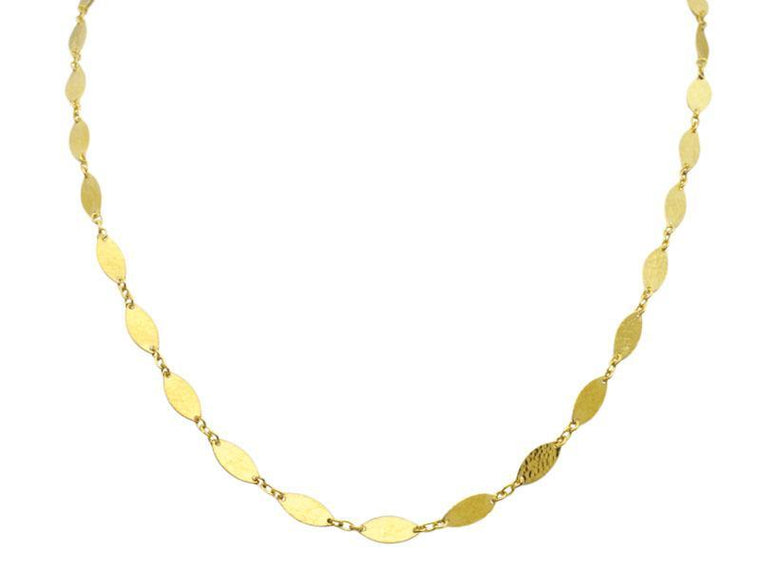 Gurhan Yellow Gold Willow Flake Necklace