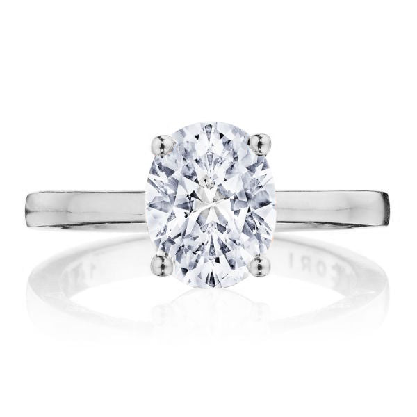 Tacori 'Coastal Crescent' Oval Solitaire Engagement Ring