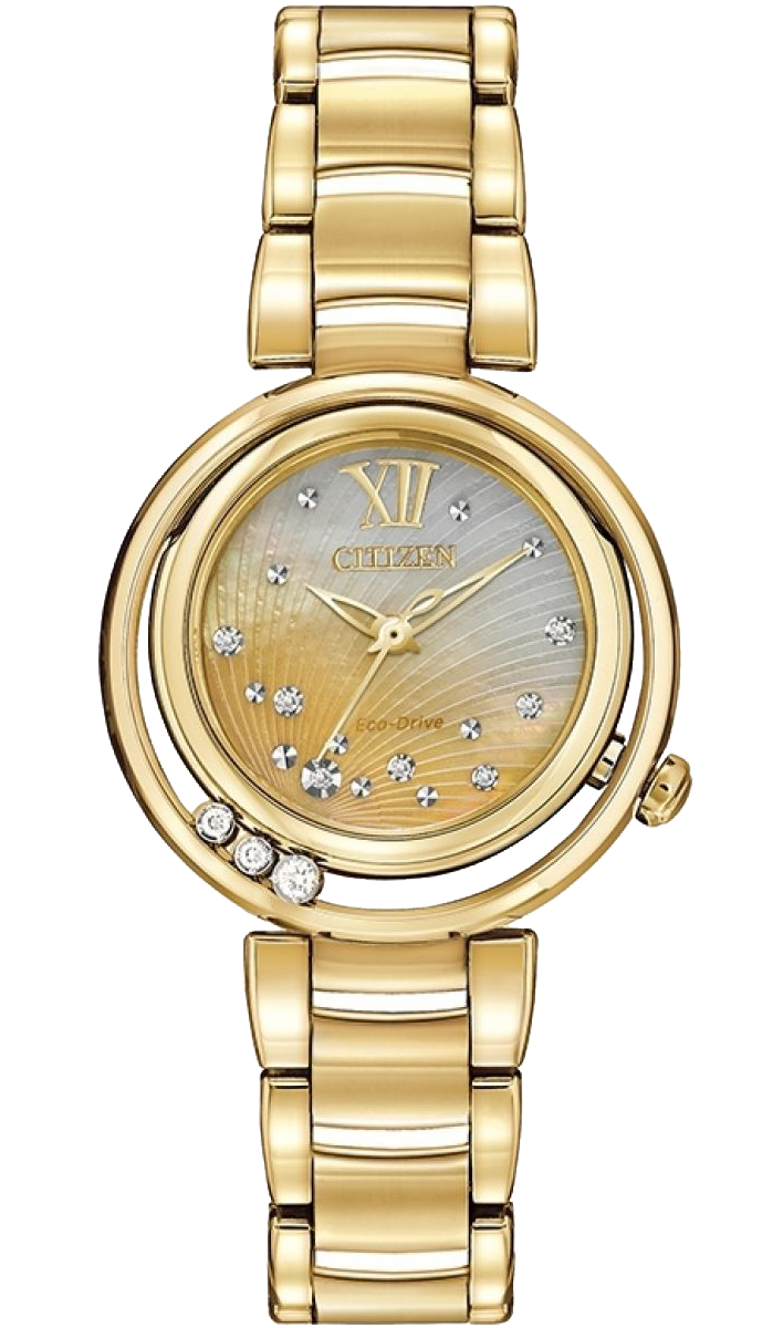 Citizen L Sunrise 30mm Watch with Mother of Pearl and Diamond Dial