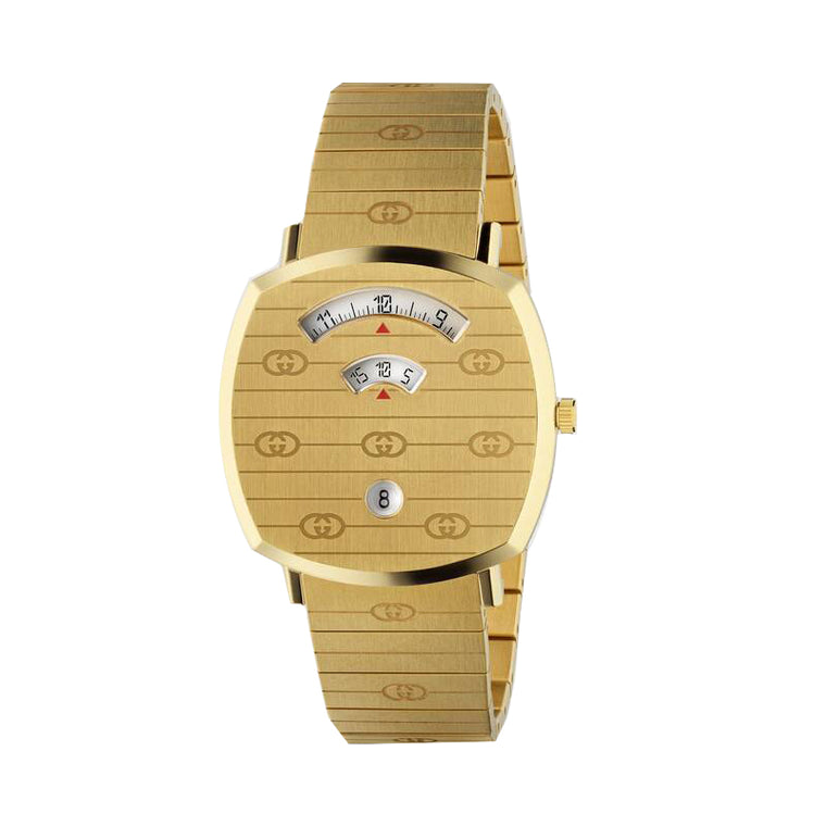 Gucci Grip Yellow Gold PVD Stainless Steel Watch
