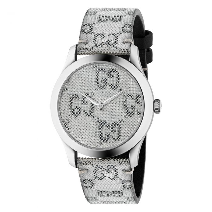Gucci G-Timeless 38mm GucciGhost Watch with Grey Dial
