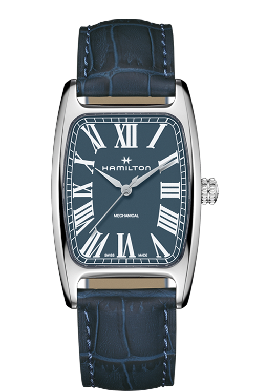 Hamilton Boulton Mechanical Watch with Blue Dial