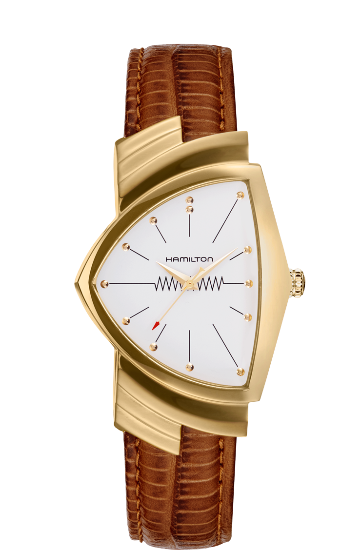 Hamilton 'Ventura L Quartz' Watch with White Dial