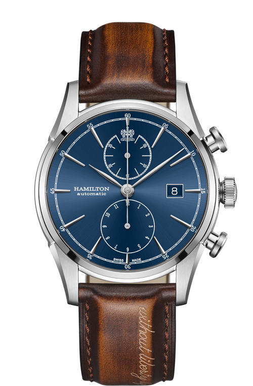 Hamilton 'Spirit of Liberty' 42mm Watch with Blue Dial