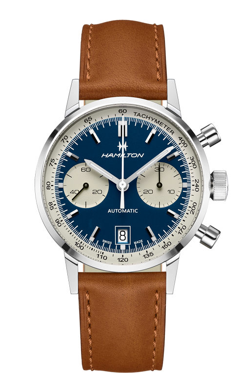 Hamilton 'Intra-matic Auto Chrono' 40mm Watch with Blue Dial