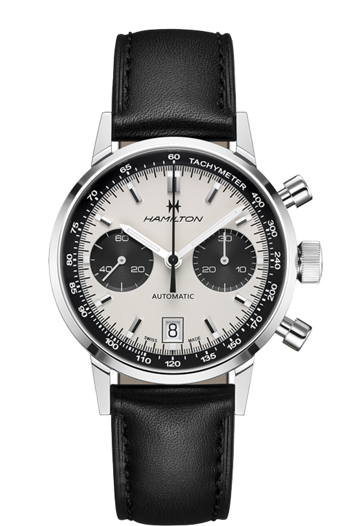 Hamilton 'Intra-matic 68 Auto Chrono' 40mm Watch with Panda Dial