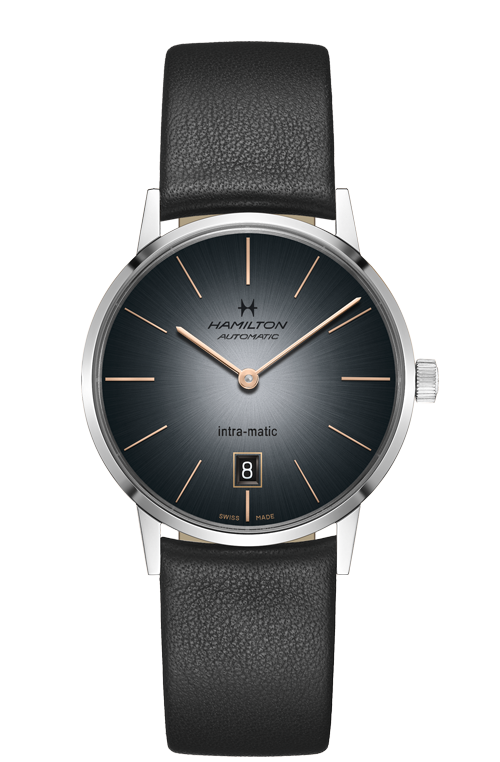 Hamilton 'Intra-matic' 38mm Watch with Grey Dial