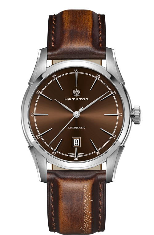 Hamilton 'Spirit of Liberty' Automatic 42mm Watch with Brown Dial