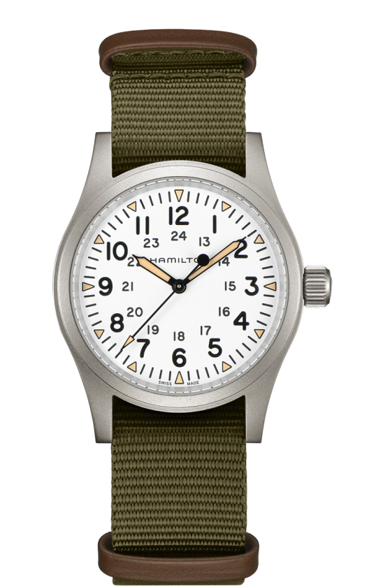 Hamilton Khaki Field Mechanical 38mm Watch with White Dial