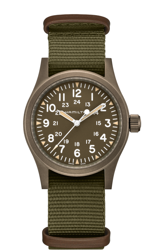 Hamilton Khaki Field Mechanical 38mm Watch with Brown Dial