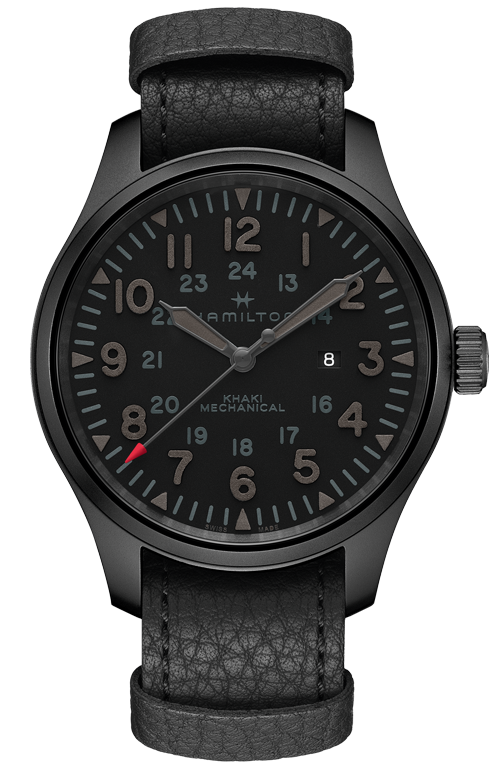 Hamilton 'Khaki Field Mechanical' Limited Edition Blackout Watch