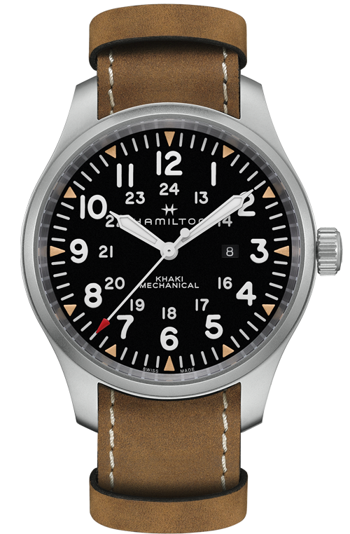 Hamilton Limited Edition 'Khaki Field Mechanical' 50mm Watch with Black Dial