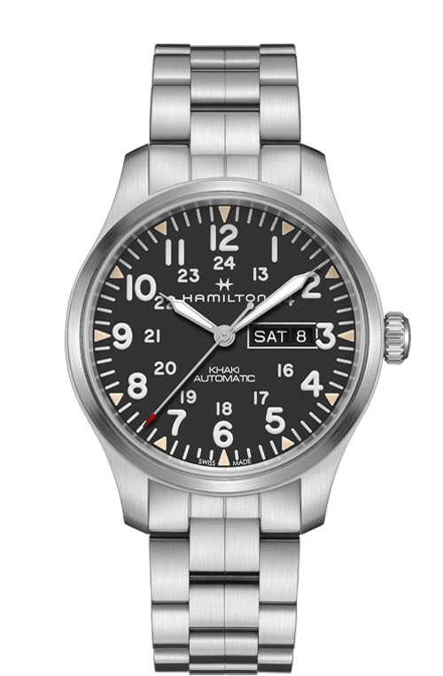 Hamilton Khaki Field Day Date Watch with Black Dial
