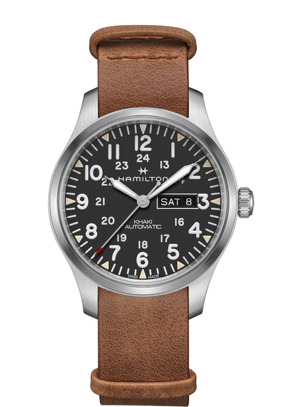 Hamilton Khaki Field Day Date Automatic 42mm Watch with Black Dial