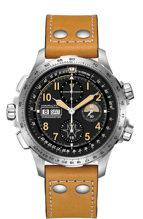 Hamilton 'Khaki X-wind Day Date Auto Chrono' 45mm Watch with Black Dial