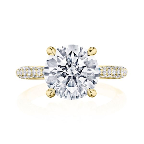 Tacori RoyalT 18k Yellow Gold Round Semi-Mount Engagement Ring