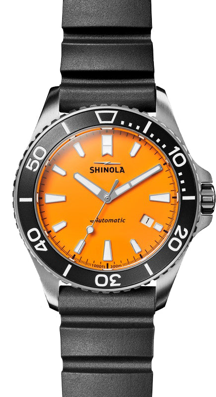 Shinola Lake Huron Monster 43mm Watch with Orange Dial