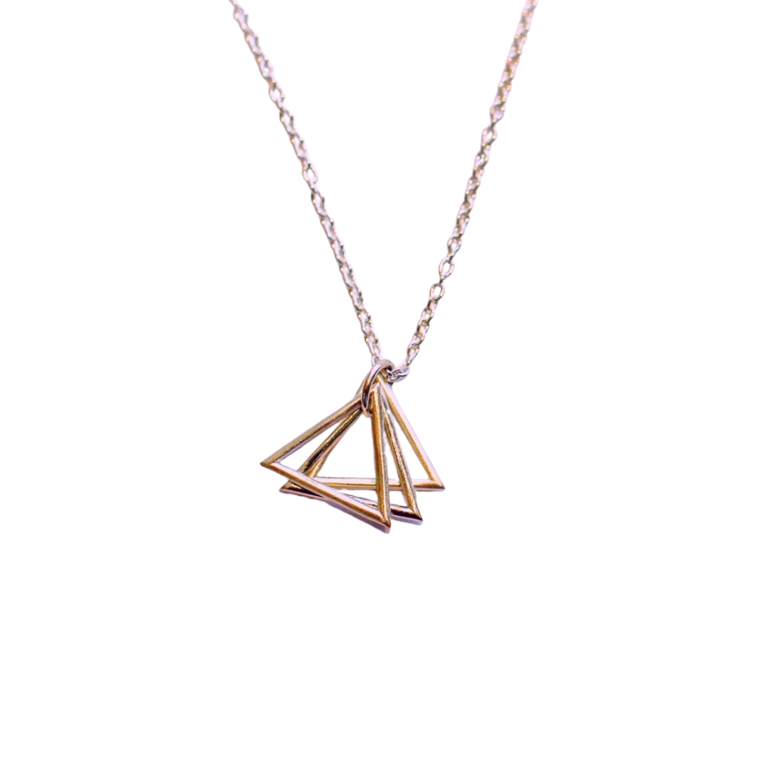 """Love, Rose"" Nicole Taylor 18 karat rose gold necklace"
