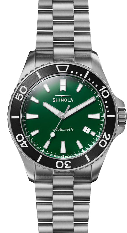 Shinola Lake Ontario Monster 43mm Watch with Green Dial
