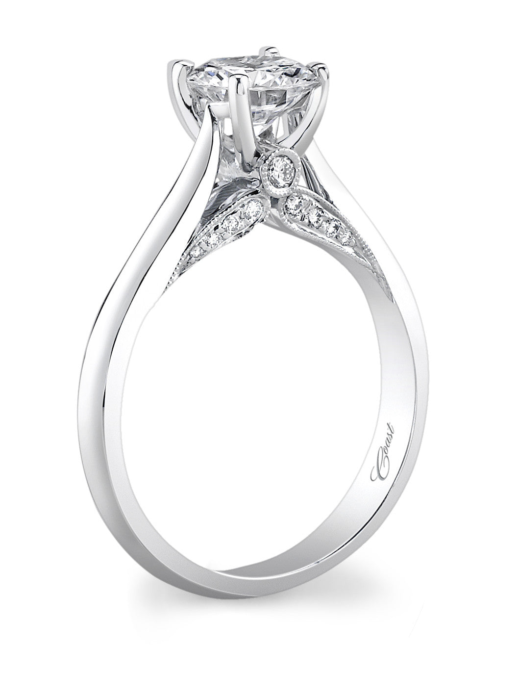 Coast Semi Mount Ring With Round Diamonds In Gallery